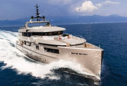 A luxury yacht Admiral Impero 40m sailing in the south of France