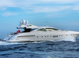 MANGUSTA 130 YACHT FOR CHARTER