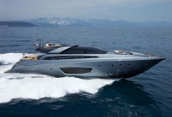 Riva 86 Domino yacht for charter French Riviera - cruising in the south of France