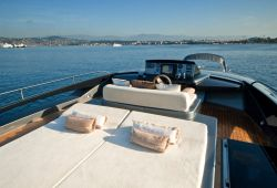 Riva 86 Domino yacht rental French Riviera - flybridge