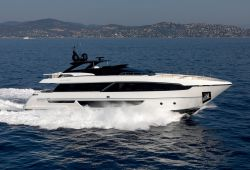 Riva 100 Corsaro yacht for charter French Riviera - cruising in the south of France