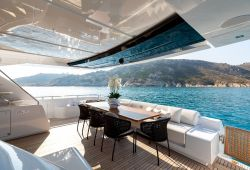 Riva 100 Corsaro boat for charter French Riviera - main deck aft