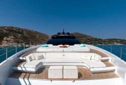 Riva 100 Corsaro yacht rental French Riviera - foredeck