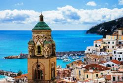 The charming village of Amalfi, a must-see stop for an Amalfi Coast yacht rental
