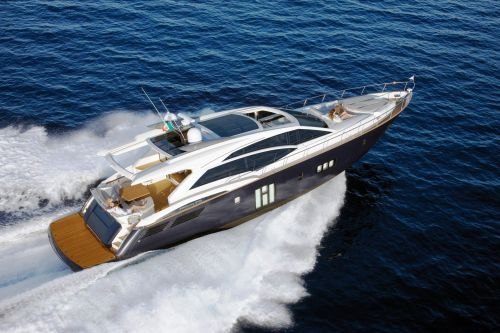 A yacht cruising during a Cannes yacht charter