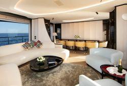 Benetti Delfino 95 yacht rental French Riviera - salon
