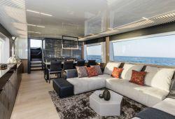 Ferretti 780 yacht rental French Riviera - salon