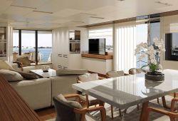Sanlorenzo SL106 yacht rental French Riviera - salon and dining