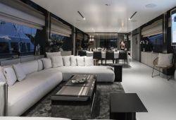 Ferretti Custom Line Navetta 33 yacht rental French Riviera - salon