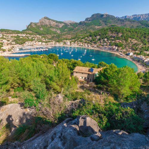 View of Puerto De Andratx in Mallorca in the Balearic Islands