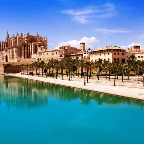The Cathedral Santa Maria de Palma de Mallorca in the Balearic Islands