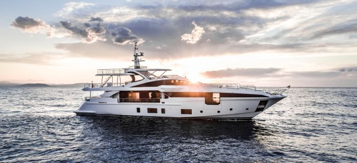A recent brand new Azimut yacht for charter