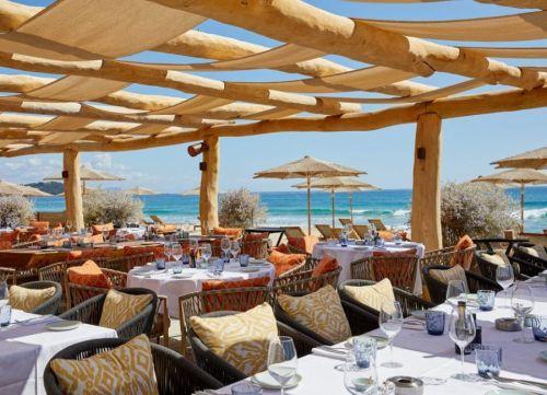 La Réserve beach club on Pampelonne beach in Ramatuelle near St Tropez