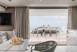 OCA Sunreef 60 catamaran boat rental - exterior main deck