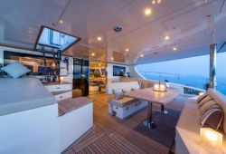 Sunreef 70 catamaran boat for charter Corsica - aft deck