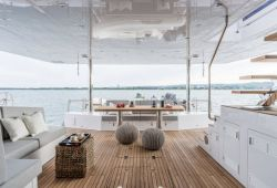 Sunreef 74 catamaran boat for charter Corsica - aft deck
