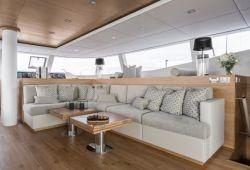 Sunreef 74 catamaran rental Corsica - salon