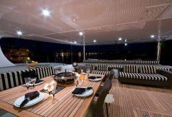 Sunreef 102 catamaran boat for charter Corsica - aft deck
