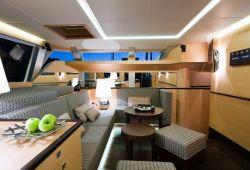 Sunreef 102 catamaran rental Corsica - salon