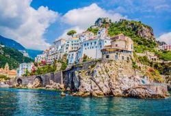 The coastal village of Positano on the Amalfi Coast, one of the best Mediterranean cruise destinations