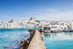 The village of Paros in Greece, seen from the sea