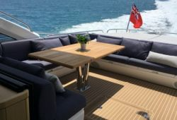 Sunseeker Predator 68 boat  for charter French Riviera - aft deck