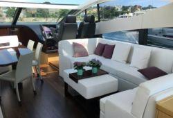 Sunseeker Predator 68 yacht rental French Riviera - salon