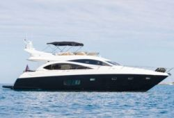 Sunseeker Manhattan 70 yacht for charter French Riviera - cruising in the south of France