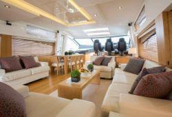 Sunseeker Predator 84 yacht rental French Riviera - salon