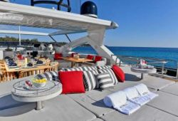 Sunseeker 34m boat  for charter French Riviera - sundeck