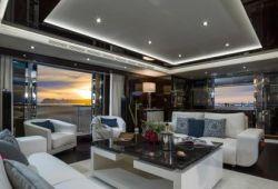 Sunseeker 116 yacht rental French Riviera - salon