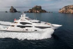 Sunseeker 131 yacht for charter French Riviera - cruising in the south of France