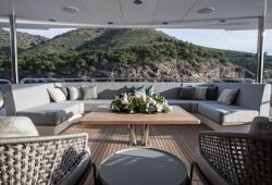 Sunseeker 131 boat  for charter French Riviera - main deck aft