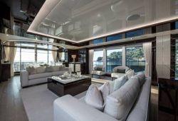 Sunseeker 131 yacht rental French Riviera - salon