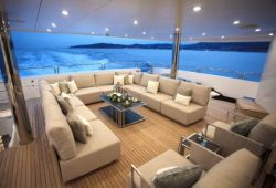 Sunseeker 155 boat  for charter French Riviera - upper deck aft