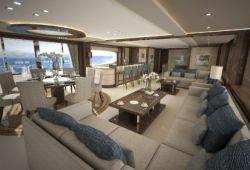 Sunseeker 155 yacht rental French Riviera - salon