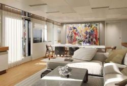 Sanlorenzo SL106 yacht rental French Riviera - salon