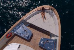 Sanlorenzo SD112 yacht rental French Riviera - foredeck
