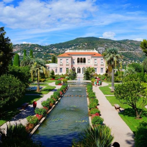 The villa Ephrussi de Rotschild and its gardens, in Saint-Jean-Cap-Ferrat on the French Riviera