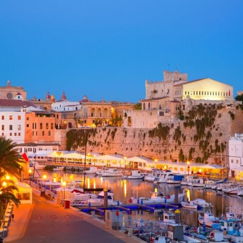 The old port of Ciutadella on the island of Menorca in the Balearic Islands