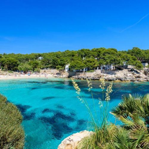 The beautiful bay of Cala Ratjada in Mallorca in the Balearic Islands