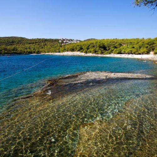 A wild beach on the island of Vis in Croatia
