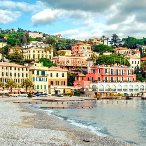 View of Santa Margherita Ligure on the Italian Riviera