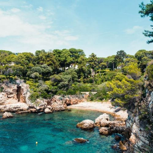 A wild cove of Cap d'Antibes on the French Riviera