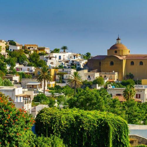The church of Santa Marina in Salina in the Aeolian Islands of Sicily