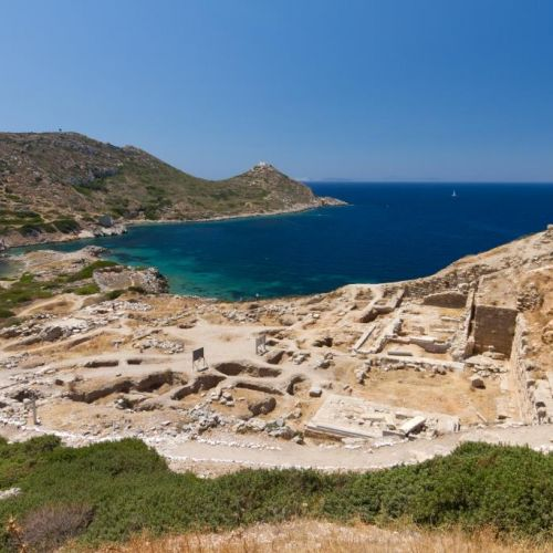 The ancient city and ruins of Knidos in Turkey