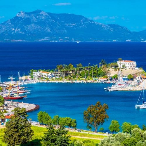The beautiful anchorage of Keci Buku ideal for a yacht charter in Turkey