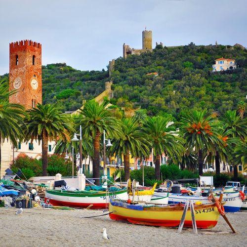 The seaside resort of Noli on the Italian Riviera