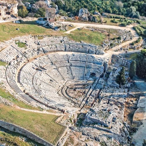 The ancient Greek theatre of Syracuse in Sicily