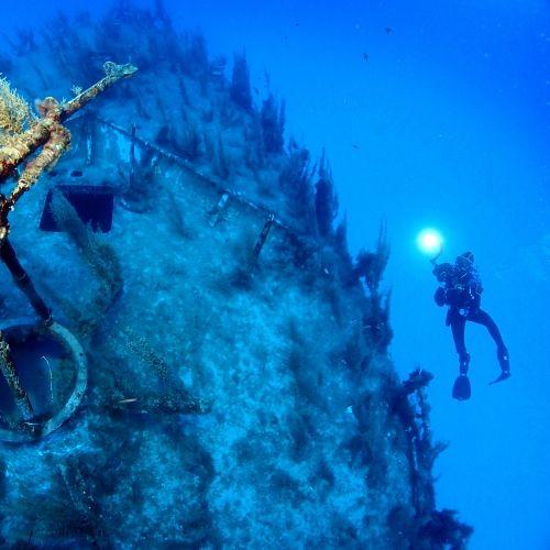A thrilling wreck dive site at Cirkewwa in Malta